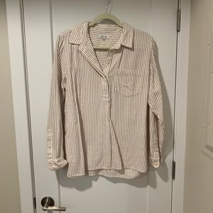 Madewell flannel popover shirt